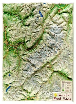 Massif Du Mont-blanc Georelief