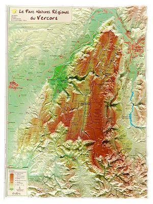 Parc Naturel Regional Du Vercors Reliefkaart Georelief