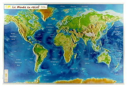 Le Monde En Relief Physique Zonder Lijst