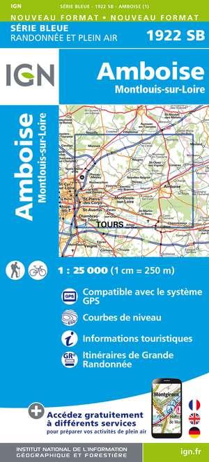 Amboise / Montlouis-sur-Loire IGN 1922 SB