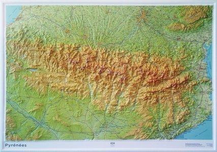 Reliefkaart Pyreneeën