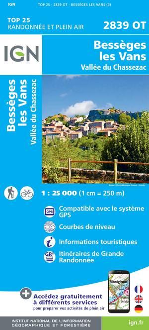 2839 OT Bessèges, Les Vans, Vallée du Chassezac
