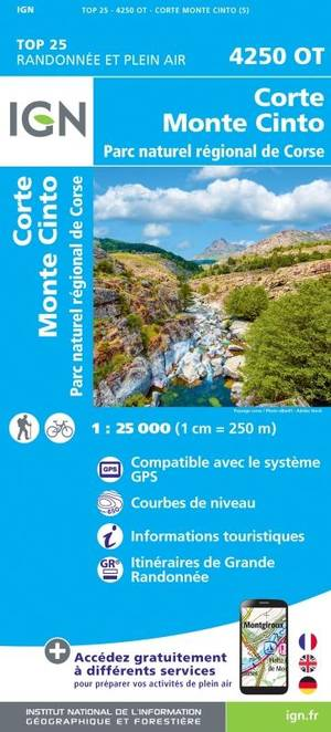 4250 OT Corte, Monte Cinto, PNR de Corse