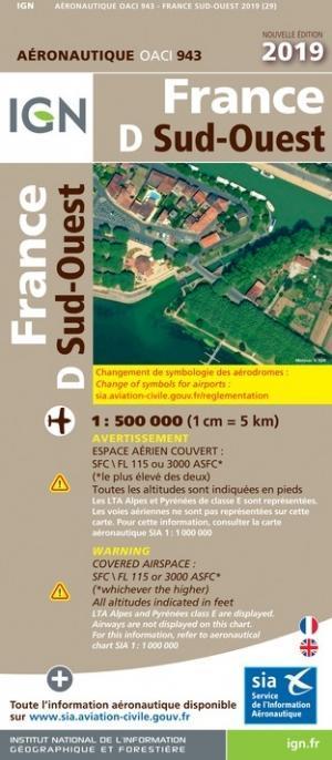 OACI 943 Frankrijk Zuid-West 2019 papier