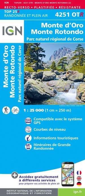 4251OTR Monte D'Oro, Monte Rotondo, PNR de Corse