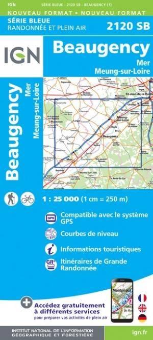 IGN 2120SB Beaugency / Mer / Meung-sur-Lire