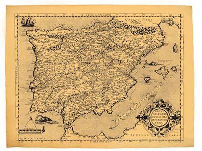 Carte Ancienne De L'espagne En 1602