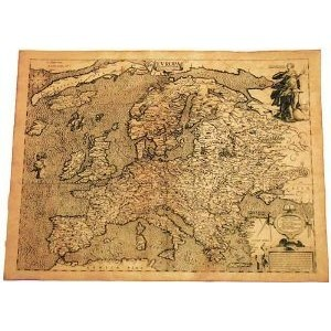 Carte Ancienne De L'europe En 1602