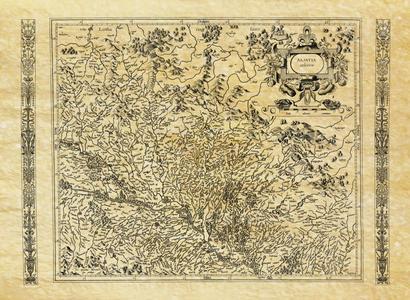 Carte Ancienne De L'alsace En 1592