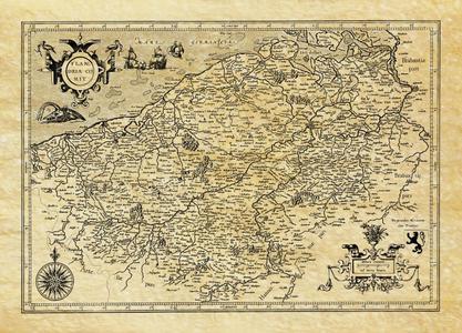 Vlaanderen 1576 Carte Ancienne Antica