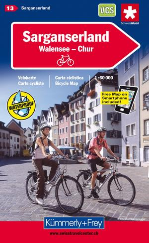 Sarganserland Cycle Map Chur/domleschg