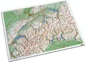 Zwitserland reliëf 82 x 68 cm
