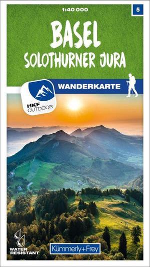05 Basel, Solothurner Jura wandelkaart 1:40.000