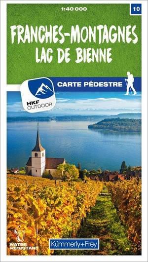 10 Franches-Montagnes / Lac de Bienne wandelkaart 1:40 000