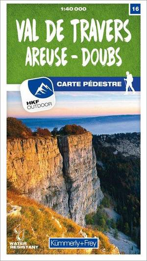 16 Val-de-Travers / Areuse - Doubs wandelkaart 1:40 000
