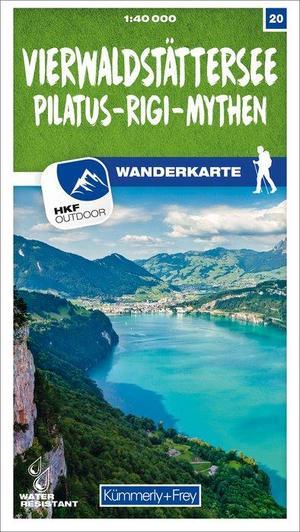 20 Vierwaldstättersee / Pilatus - Rigi - Mythen wandelkaart 1:40 000