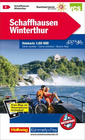 Schaffhausen / Winterthur fietskaart