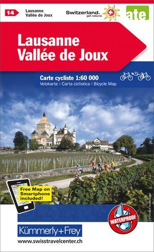 Lausanne / Vallée de Joux fietskaart