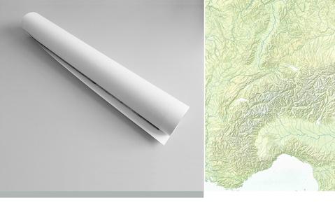 Alpen Schweiz Relief 1:1m Plano Swisstopo
