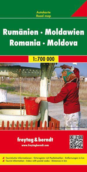 Rumänien. Moldawien 1 : 700 000. Autokarte