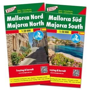 F&B Mallorca Noord en Zuid, set 2 kaarten