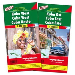 F&B Cuba West en Oost, set 2 kaarten