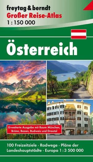 Oostenrijk Grote Toerist. Wegenatlas + fietsroutes