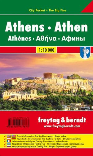 Athen, Stadtplan 1:10.000, City Pocket + The Big Five