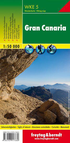 F&B WKE5 Gran Canaria Noord & Zuid 2-kaartenset