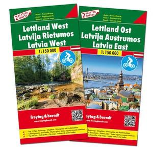 F&B Letland West en Oost 2-kaartenset
