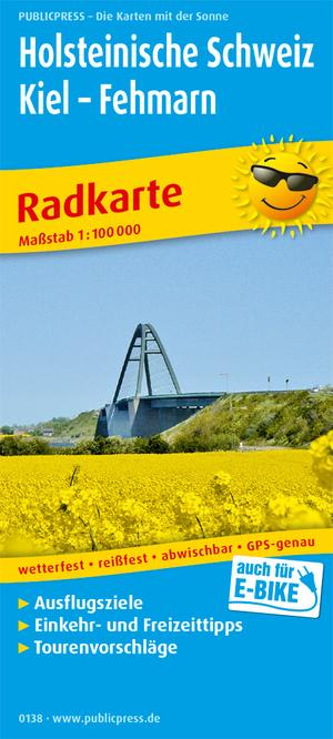 Holsteinische Schweiz / Kiel / Fehmarn fietskaart