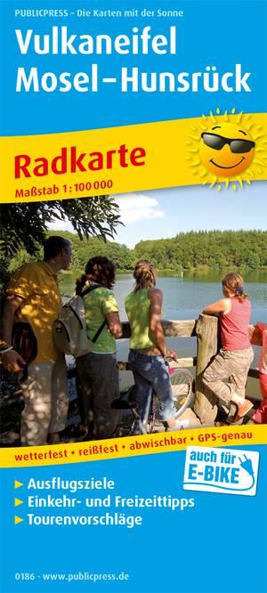 Vulkaaneifel Moezel - Hunsrück fietskaart