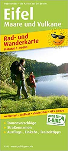 Eifel Maare & Vulkane fiets- & wandelkaart