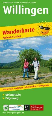 Willingen + Uplandsteig wandelkaart