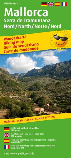 Mallorca Serra de Tramuntana Noord wandelkaart