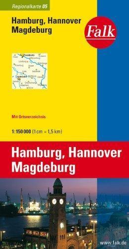 Hamburg, Hannover, Magdeburg Falk wegenkaart