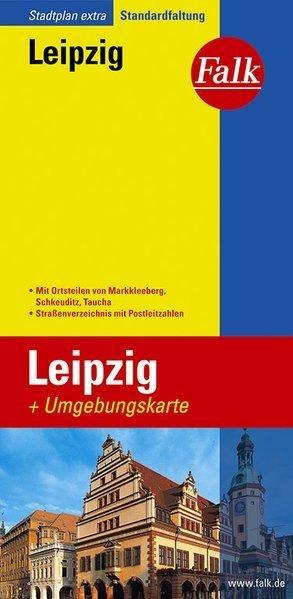 Leipzig Falk plattegrond