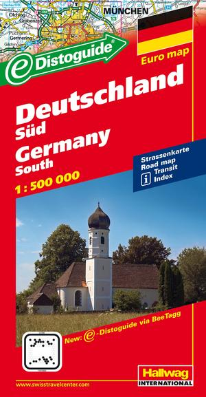 Southern Germany: Road Map With Places Of Interest, Touring Information