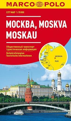 Moskou Moscow 1:15.000 Marco Polo Citymap