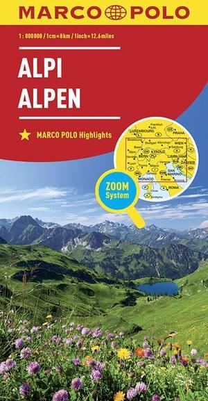 Alpen 1:800.000 Marco Polo