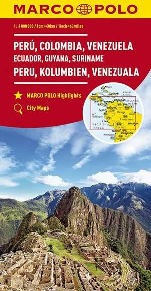 Peru Colombia Venezuela 1:4m Marco Polo