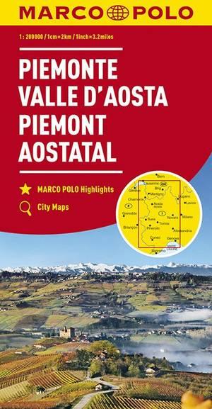 Mpk 01 Piemonte Aostadal 1:200.000 Marco Polo