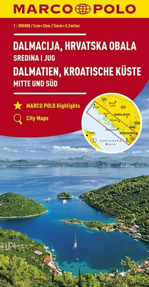 Dalmatia Croatian Coastline 1:200.000