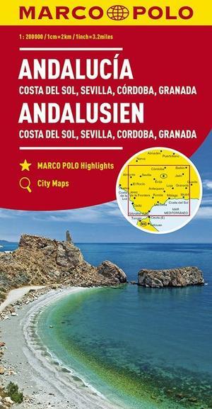 Andalusien Costa Del Sol Sevilla 1:200.000