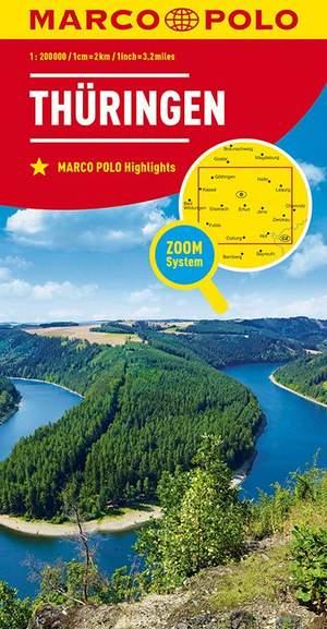 Mpk D7 Thuringen 1:200.000 Marco Polo