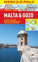 Malta & Gozo Marco Polo geplastificeerde wegenkaart 1:50.000