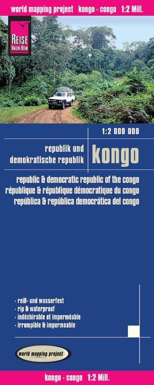 Reise Know-How Landkarte Kongo (1:2.000.000): Republik und Demokratische Republik Kongo
