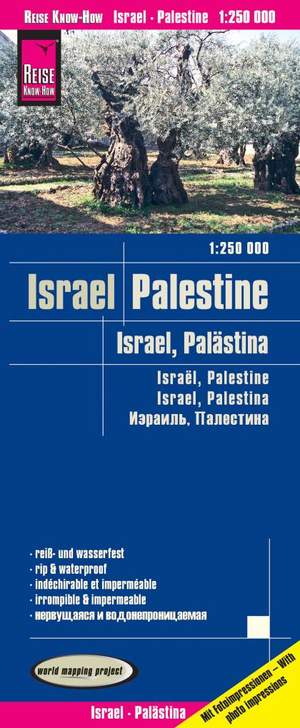 Reise Know-How Landkarte Israel, Palästina 1 : 250.000