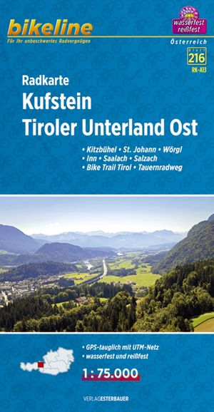 Kufstein - Tiroler Unterland Oost fietskaart