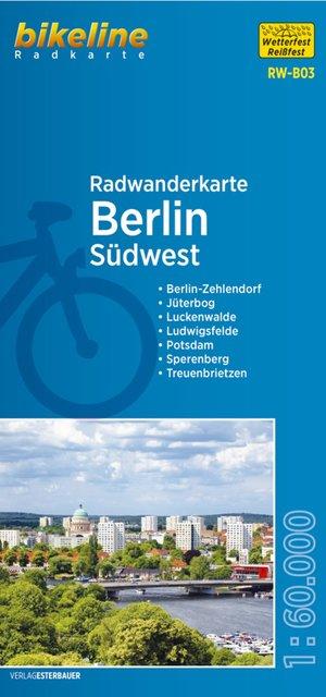 Berlijn Zuidwest fietstourkaart